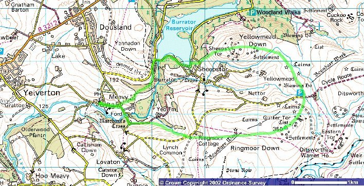 Route of the Burrator Horseshoe Run