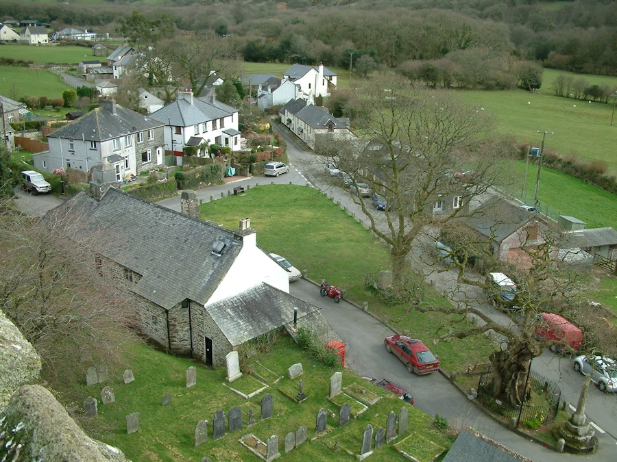 Meavy Village from St Peter's Church tower